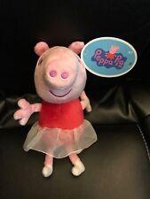"PEPPA PIG BALLERINA W/ SOUND 7"" Plush NEW"