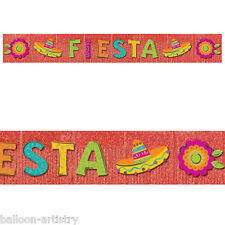 3m Wild West Mexican Fiesta Fun Summer Party Glitter Fringe Banner Decoration