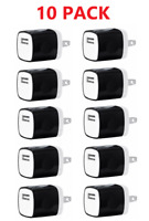 10x Black 1A USB Power Adapter AC Home Wall Charger US Plug FOR iPhone Samsung