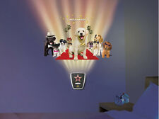 Wild Walls PUPPIES wall stickers 20+  decals with LIGHT & SOUNDS dogs red carpet