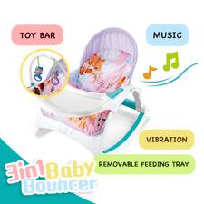 Baby Music Rocker Bouncer Newborn Toddler Rocker Feeding Tray Vibration 3 in 1
