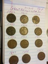 Great Britain lot#30 1/2penny 1902 10 19 1921 23 29 32 1943 45 47 48 1950 011315