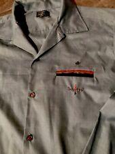 Vintage 50s Omar Shirt Blue/Brown fleck atomic 2 Tone Pocket Mens Large