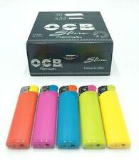 OCB Slim Premium1 boite/box de 50 carnets de feuilles à rouler 5 briquets offert
