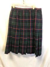 "Vintage Century of Boston Wool Plaid Tartan Skirt side zipper 32"" waist"