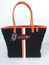 Clemson University Tigers Canvas Tote Handbag Purse NCAA College Football