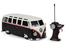 Remote Control VW Volkswagen Samba Toy Camper Van Black 1:24 Scale