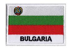 Ecusson brodé patche à coudre drapeau patch emblème pays Bulgarie 70 x 45 mm