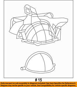 CHRYSLER OEM Evaporator Heater-Blower Case 68110621AB