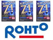 ROHTO Z! Pro Eye Drops X 3 Cool Refreshing Eye Wash Japan Free Ship