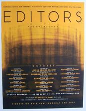 Editors 2007 poster type Advert Uk Concert Tour an end has a start