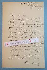 L.A.S Louis MORIN Peintre illustrateur Mortaigne Sainte Lizaine Issoudun lettre