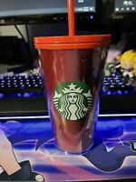 Starbucks Holiday 2020 Red Glitter Tumbler Grande 16 Oz