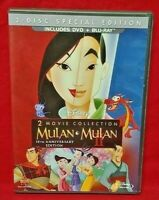 Mulan + Mulan II 2 Movie Collection Blu-ray, DVD, 2013 15th Anniversary Edition