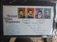 UK 1972 BRITISH POLAR EXPLORERS SET 4 STAMPS FDC FIRST DAY COVER