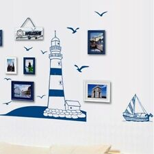 Room Decal Seagulls Lighthouse Sailing Home Wall Sticker Removable Decor