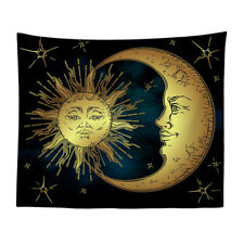 Mandala Sun and Moon Wall Hanging Tapestry Hippie Art Throw Bedspread