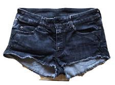 Alexander Mcqueen Black Denim Shorts