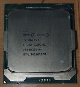 INTEL XEON E5-2698 V4 CPU PROCESSOR 20 CORE 2.20GHz 50MB L3 CACHE 135W SR2JW