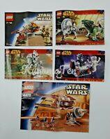 Lego Star Wars 7113 7250 4478 7251 7255 Complete/Incomplete Sets + Instructions