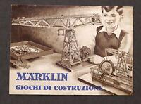 Modellismo Giocattoli - Brochure Marklin - Giochi di costruzione - 1940 I