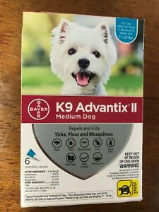 K9 Advantix II for Medium Dogs 11-20 lbs - 6 Pack (US EPA Approved)