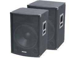 "2 x Pulse PVS12 12"" Speaker DJ PA Pair Disco Karaoke 250w Sound System Audio"