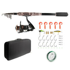 Hiumi Sea Saltwater Freshwater Kit Telescopic Carbon Fishing Rod and Reel Combos