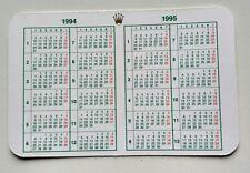 Vintage ROLEX  Calendar 1994/1995 OEM 67180 68628 16518 16523 16600 16520 16528