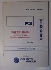 Original Galanti F3 Virtuoso Electronic Organ Schematic Diagrams