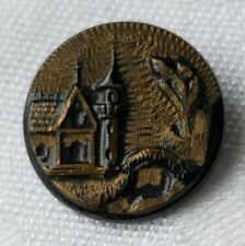 New listing Vintage Button Early Retro Collectable House Castle Antique Find Fairy Tail