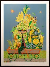 """Guillermo Silva """"Vendedor De Flores"""" Signed Numbered Lithograph, Make Any Offer!"""