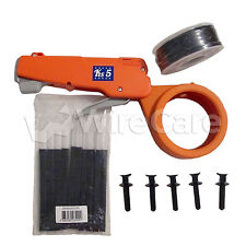 510-B - Cable Tie Gun Kit, Prof. System Includes Spool, Clips and Plugs, Black