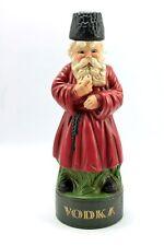 Vintage Russian Cossack VODKA Figure Albertas Ceramic Decanter