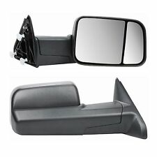 Manual Towing Side View Black Mirrors Pair For Dodge Ram Truck Pickup 2009-2015