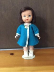 "Hard Plastic walker doll 10""  can wear Nancy Ann Debbie clothes, unmarked"