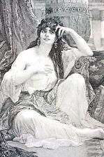 Alexandre Cabanel 1888 die sulamite Braut Shulamite Song of Solomon Gravur