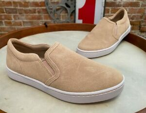 Clarks Nude Blush Suede Twin Gore Slip-On Sneaker Shoes Pawley Bliss New