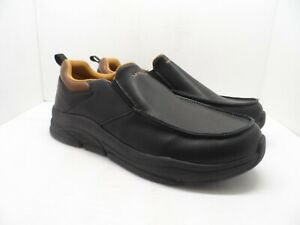 Skechers Men's Memory Foam Insole Slip On Casual Shoe Black/Brown/Orange 12M
