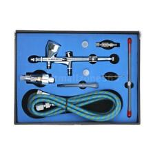 KKmoon 0.2/0.3/0.5mm Nozzle Dual Action Gravity Feed Airbrush Kit 9cc Cup Q1F7