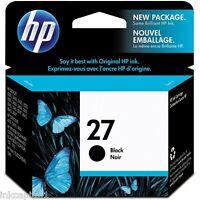 HP No 27 NERO ORIGINALE OEM CARTUCCIA A GETTO di inchiostro C8727AE PSC