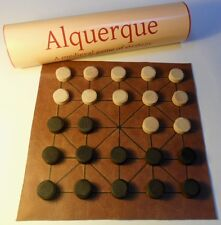 Alquerque historic medieval board game; the precursor to draughts/checkers