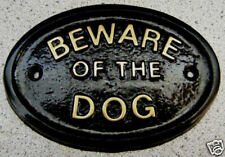 BEWARE OF THE DOG OR DOGS  HOUSE DOOR PLAQUE SIGN COLLAR LEAD