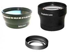 Wide + Tele Lens + Lens Hood with RingTube bundle for Fuji FujiFilm X10 x20 x30