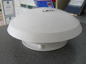 White Plastic Circular Mushroom Roof Vent for Caravan or Motorhome - Round CRV2