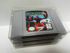 10 N64 CARTRIDGE PROTECTORS  Custom Made  Clear Box / Sleeves Case Nintendo 64