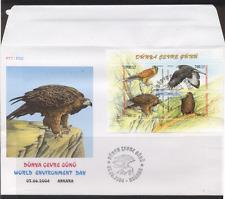 Turchia 2004 VOLATILI/Eagle/Red Kite/Kestrel/Fauna Selvatica/NATURA 4v M/S FDC (n12677)