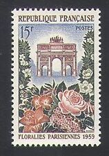 France 1959 Flowers/Plants/Nature/Arch/Gate/Buildings/Architecture 1v (n34171)