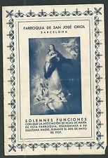 Estampa antigua Parroquia de San Jose de Oriol andachtsbild santino holy card