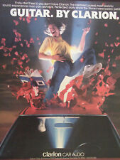 1988 Clarion Car Audio Advertisement Air Guitar Guy by Clarion